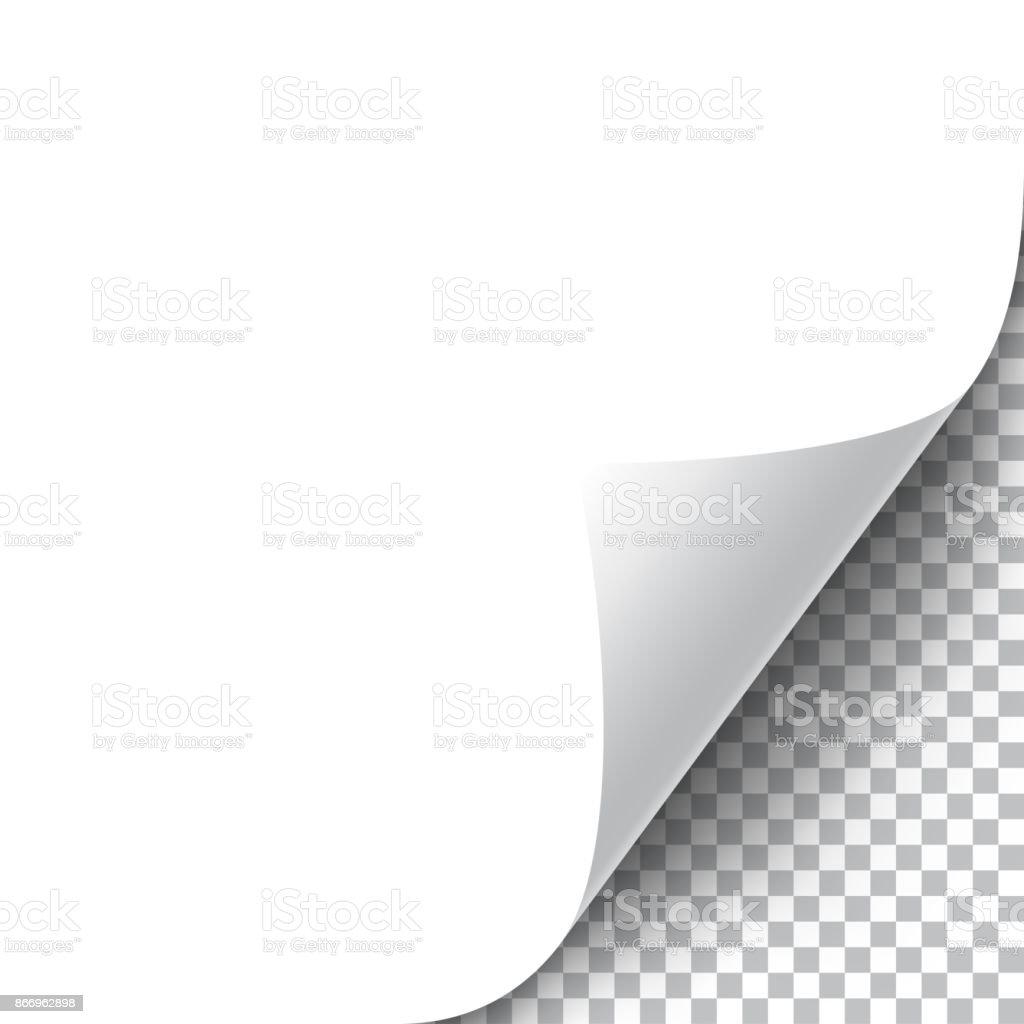 Krullend pagina hoek - Royalty-free Aan de kant van vectorkunst