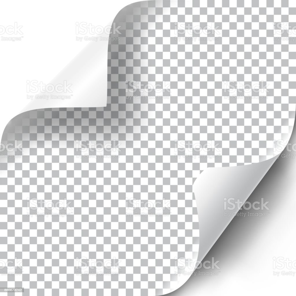 Curly Page Corners set vector art illustration