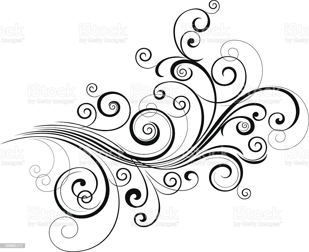 Curly Scroll vector art illustration