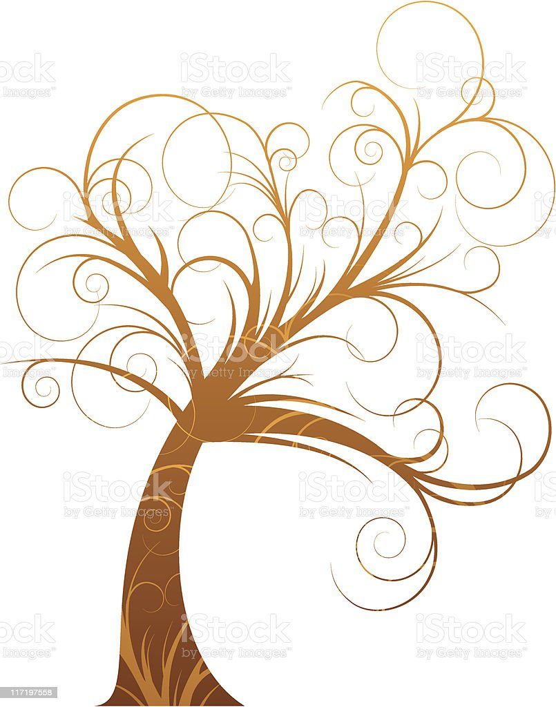 curly tree royalty-free stock vector art