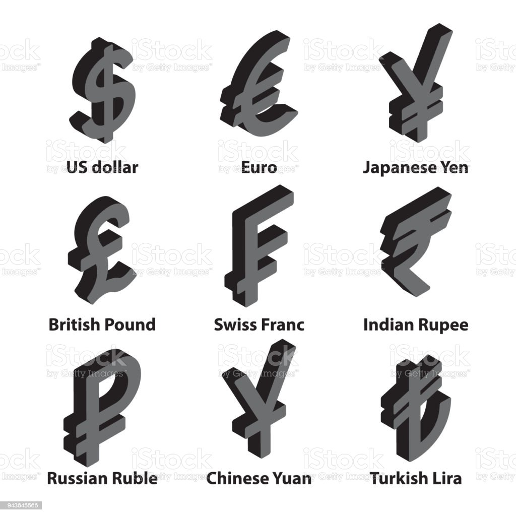 Currencies Symbol Icons Set Vector Stock Vector Art More Images Of