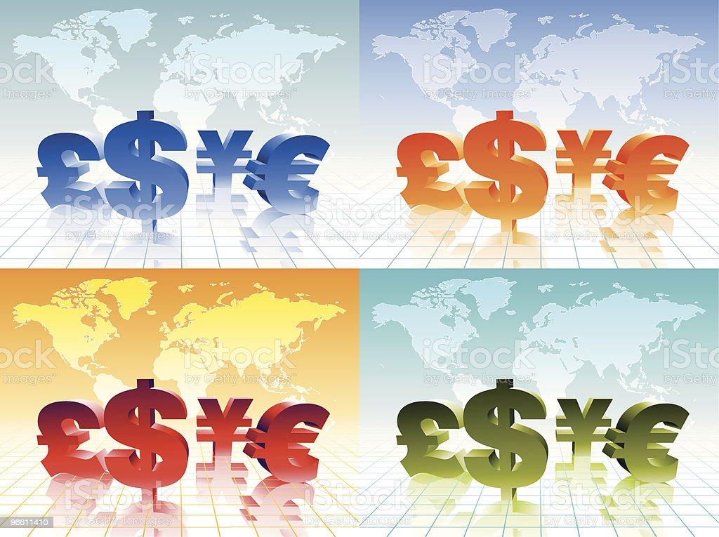 Monedas - arte vectorial de Actividades bancarias libre de derechos