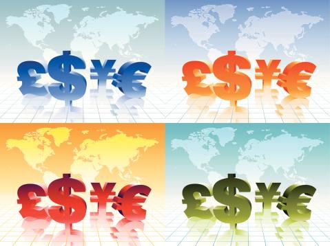 Currencies Stockvectorkunst en meer beelden van Bankieren