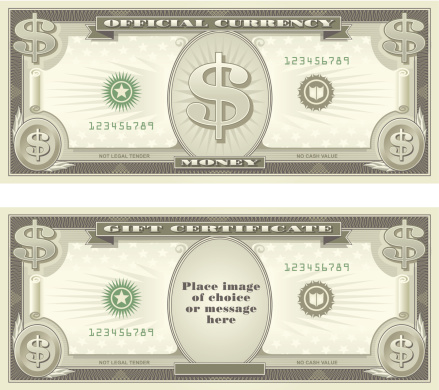 Currency and Gift Certificate