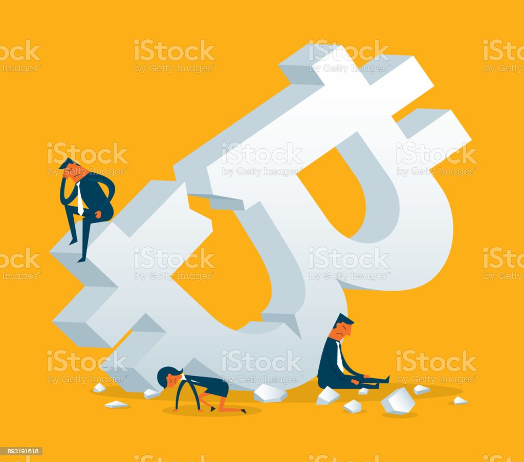 Currency Crisis vector art illustration