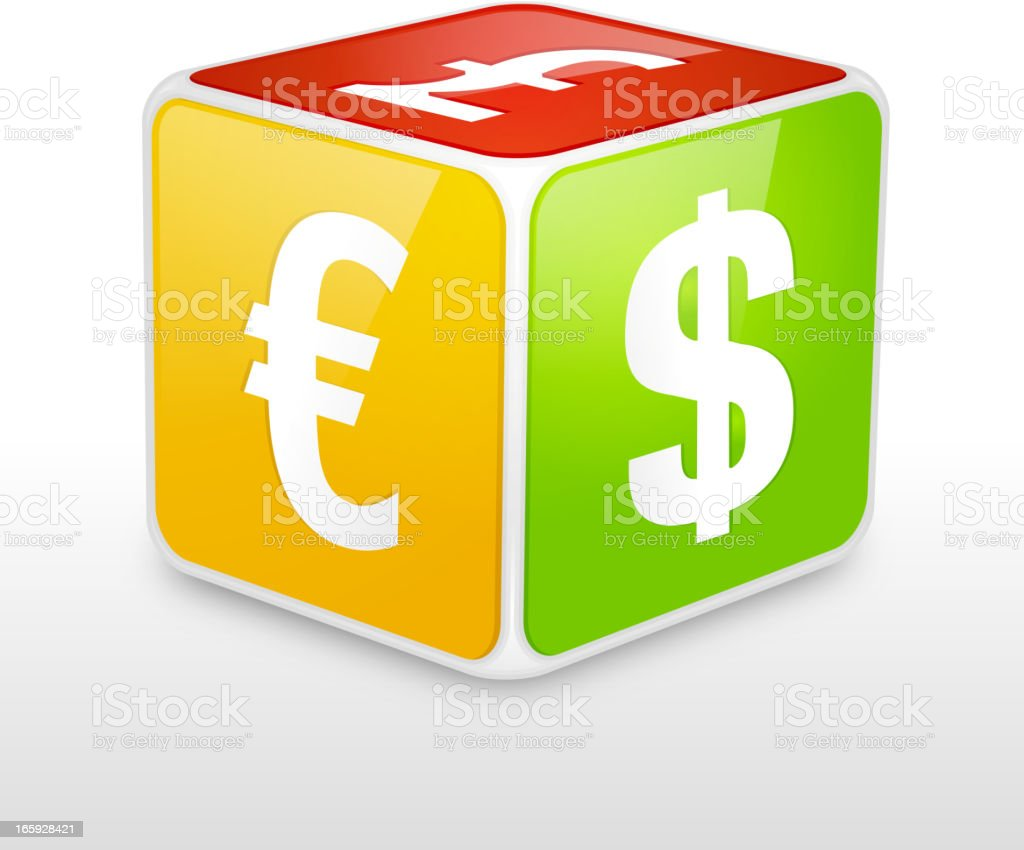 Currency dice royalty-free stock vector art