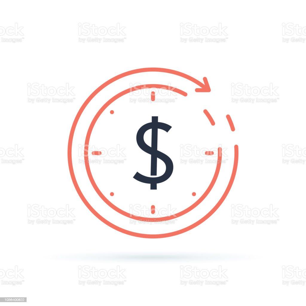Cambio de divisas, reembolso préstamo rápido, refinanciar hipotecas y concepto seguro de reembolso de fondo de manejo de negocios. - ilustración de arte vectorial