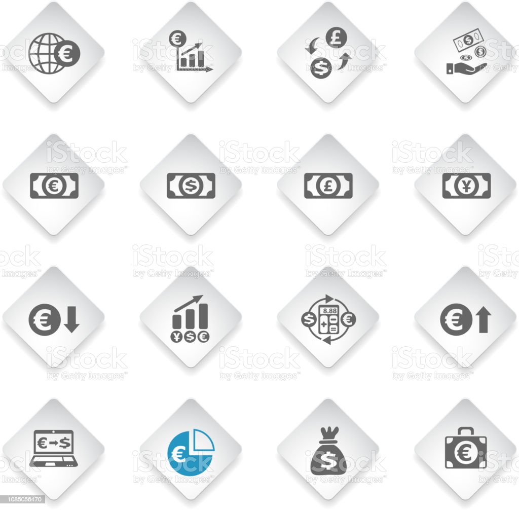Currency Exchange Icon Set Stock Illustration - Download