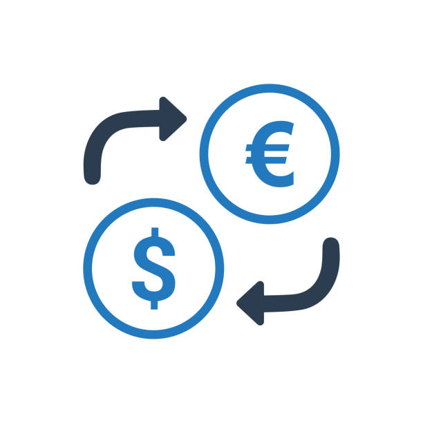 Currency Exchange Icon Currency Exchange Icon exchange rate stock illustrations