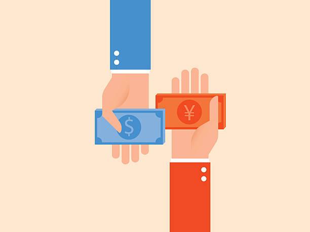 currency exchange, money exchange - 出張点のイラスト素材/クリップアート素材/マンガ素材/アイコン素材