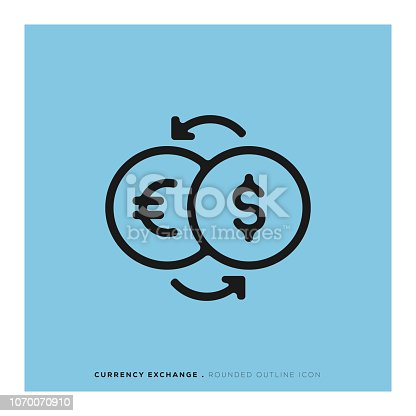 Currency Exchange Rounded Line Icon