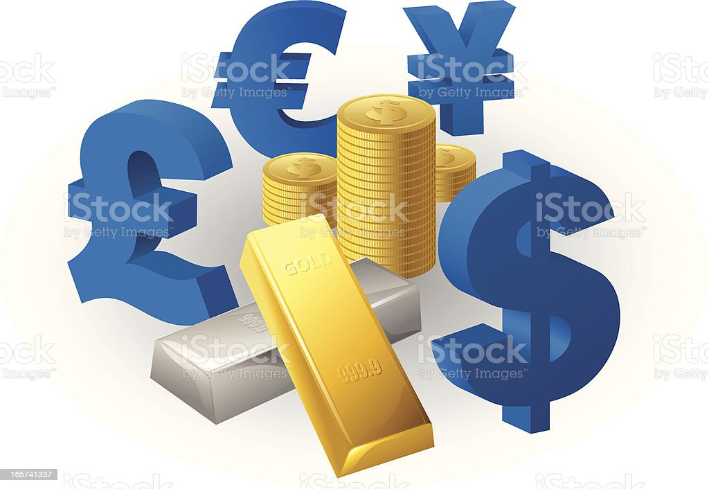 Currency Exchange royalty-free stock vector art