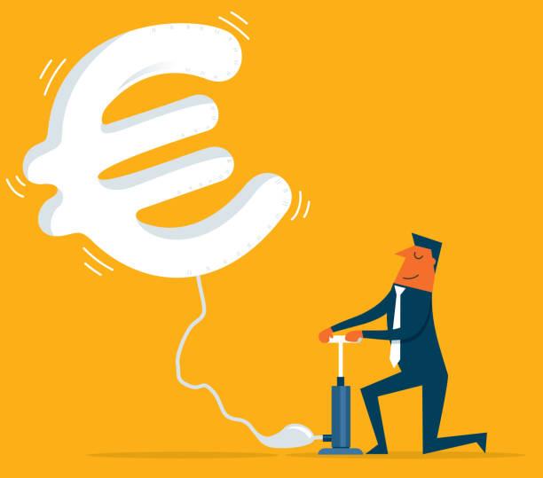 illustrations, cliparts, dessins animés et icônes de vol de monnaie - euro - inflation