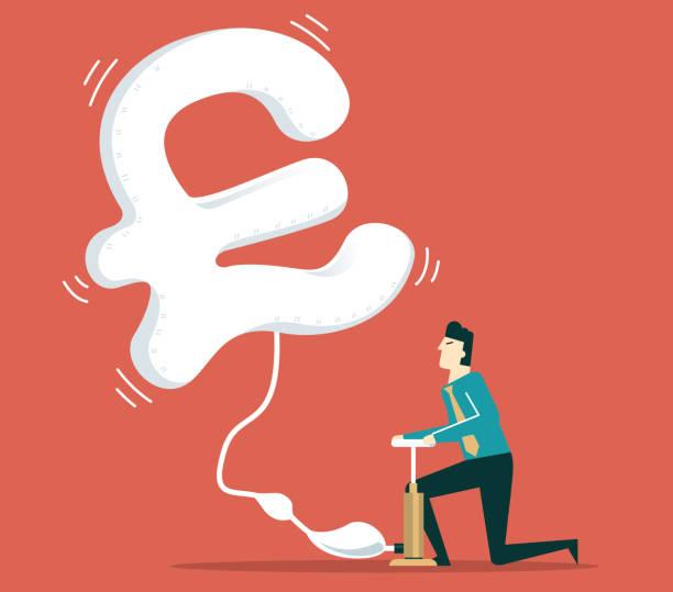 illustrations, cliparts, dessins animés et icônes de vol de monnaie - signe dièse - inflation
