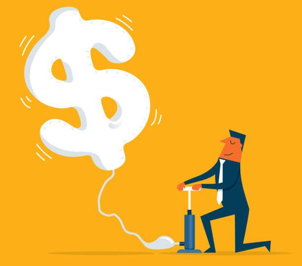 illustrations, cliparts, dessins animés et icônes de monnaie de vol - inflation