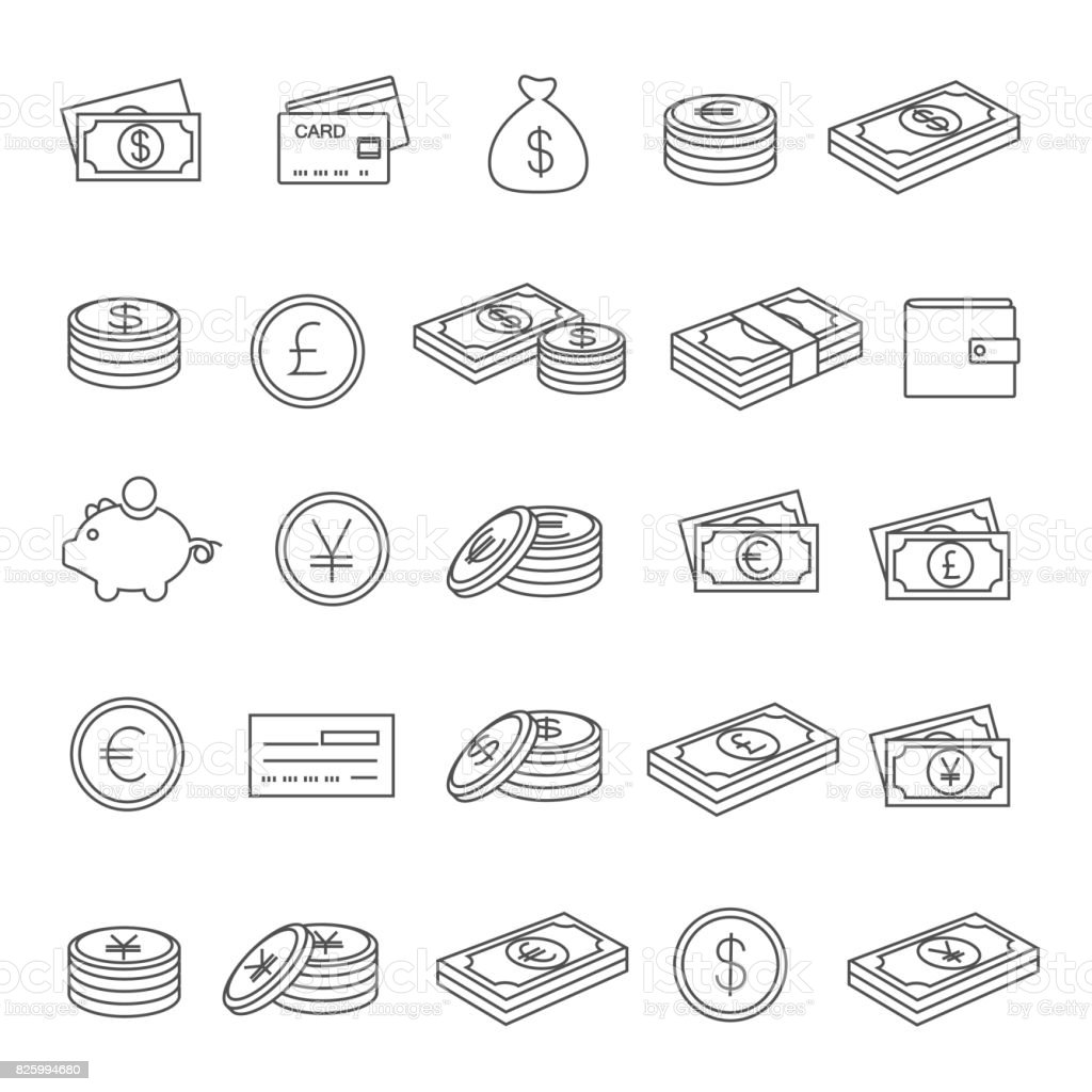 Currency icon vector art illustration