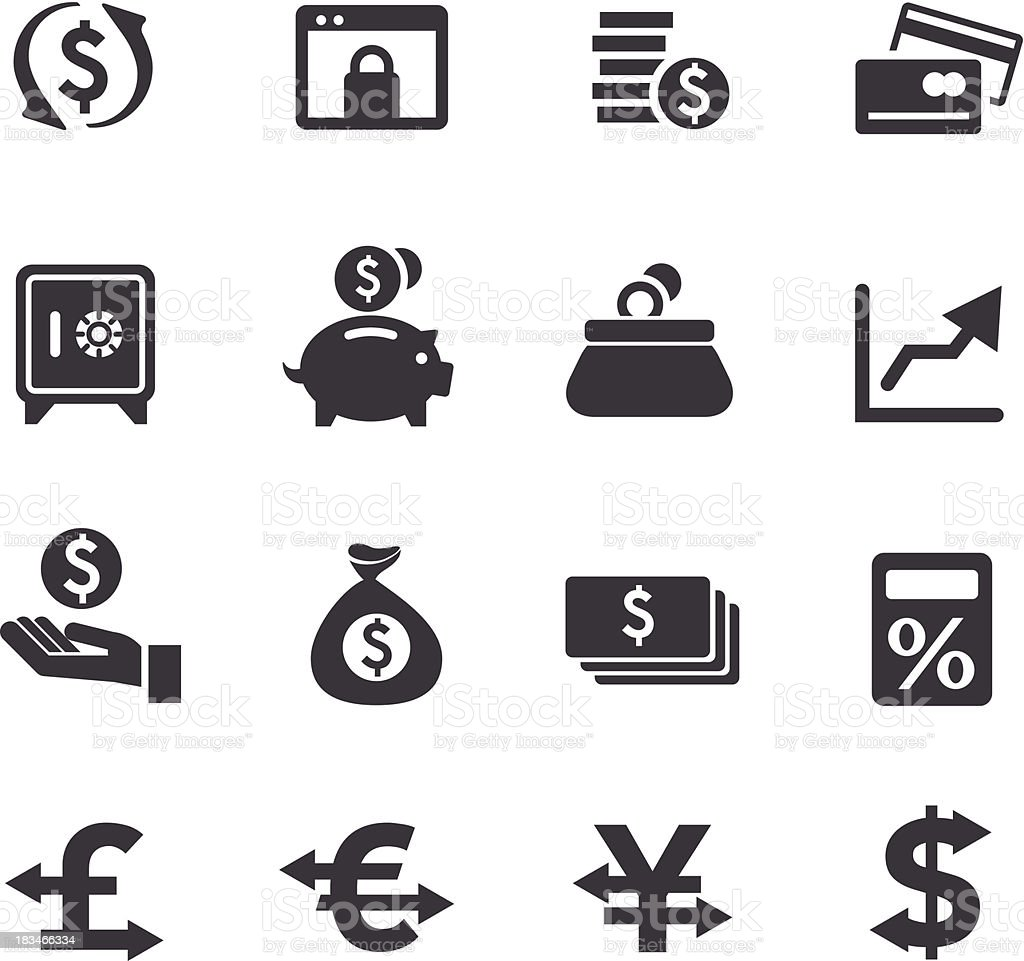 Currency Icons - Acme Series royalty-free stock vector art