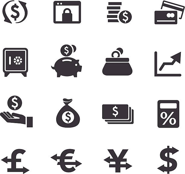 Currency Icons - Acme Series vector art illustration