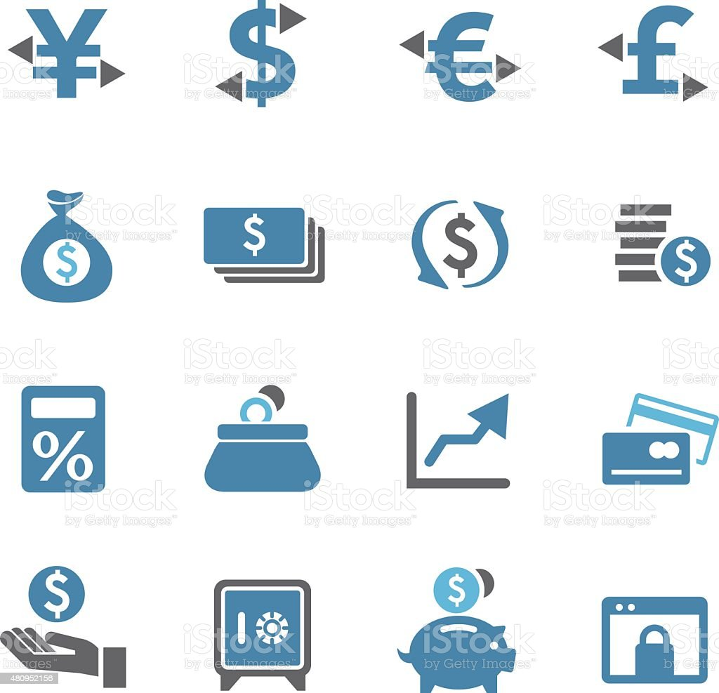 Currency Icons - Conc Series vector art illustration