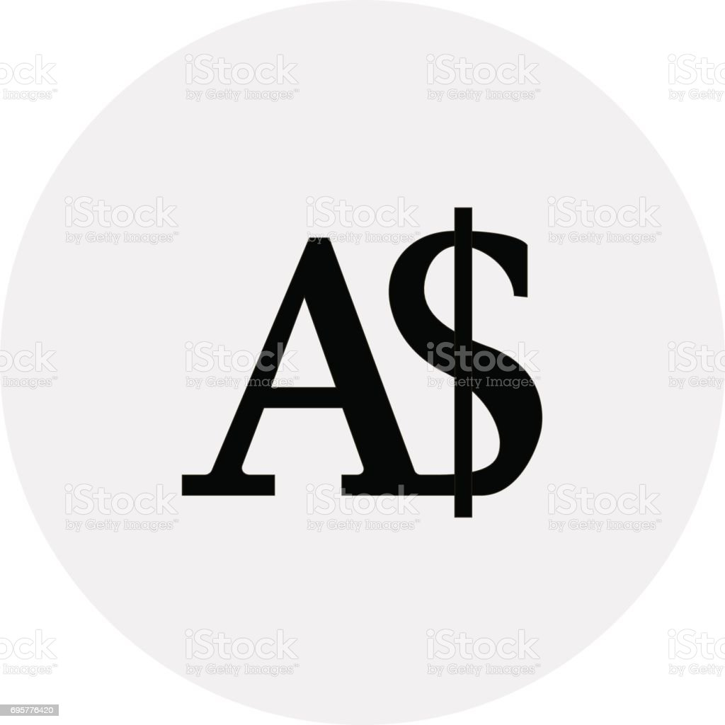 Currency of Australia - Australian dollar vector art illustration