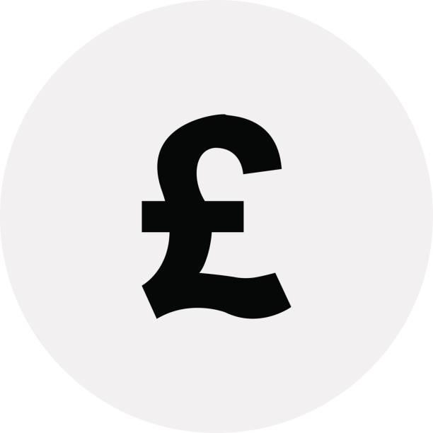영국-파운드의 통화 - 영국 화폐 단위 stock illustrations