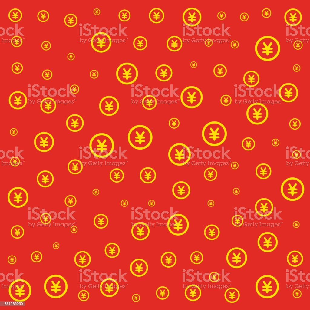RMB currency pattern tile vector art illustration