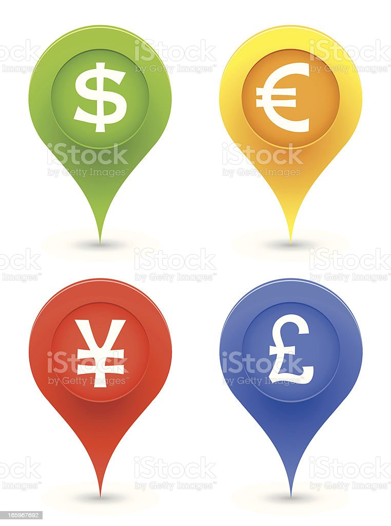 Currency Pointers royalty-free currency pointers stock vector art & more images of aiming