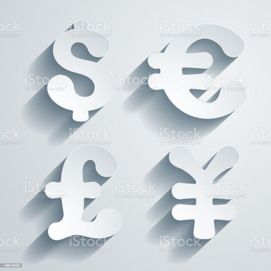 Currency Symbols Stock Vector Art 486240083 Istock
