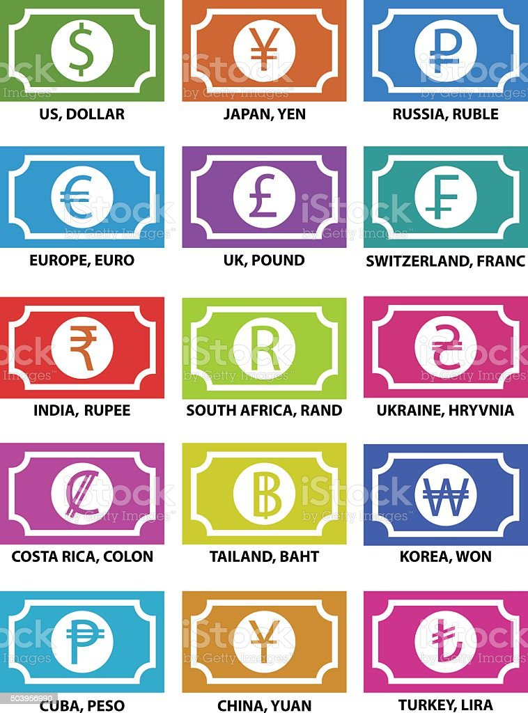 Currency Symbols Stock Vector Art More Images Of British Currency