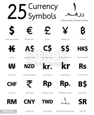 Currency Symbols Stock Vector Art More Images Of Australia