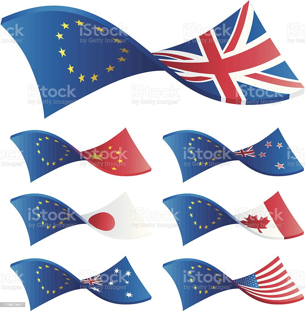 Currency Trading Pairs - Euro royalty-free stock vector art