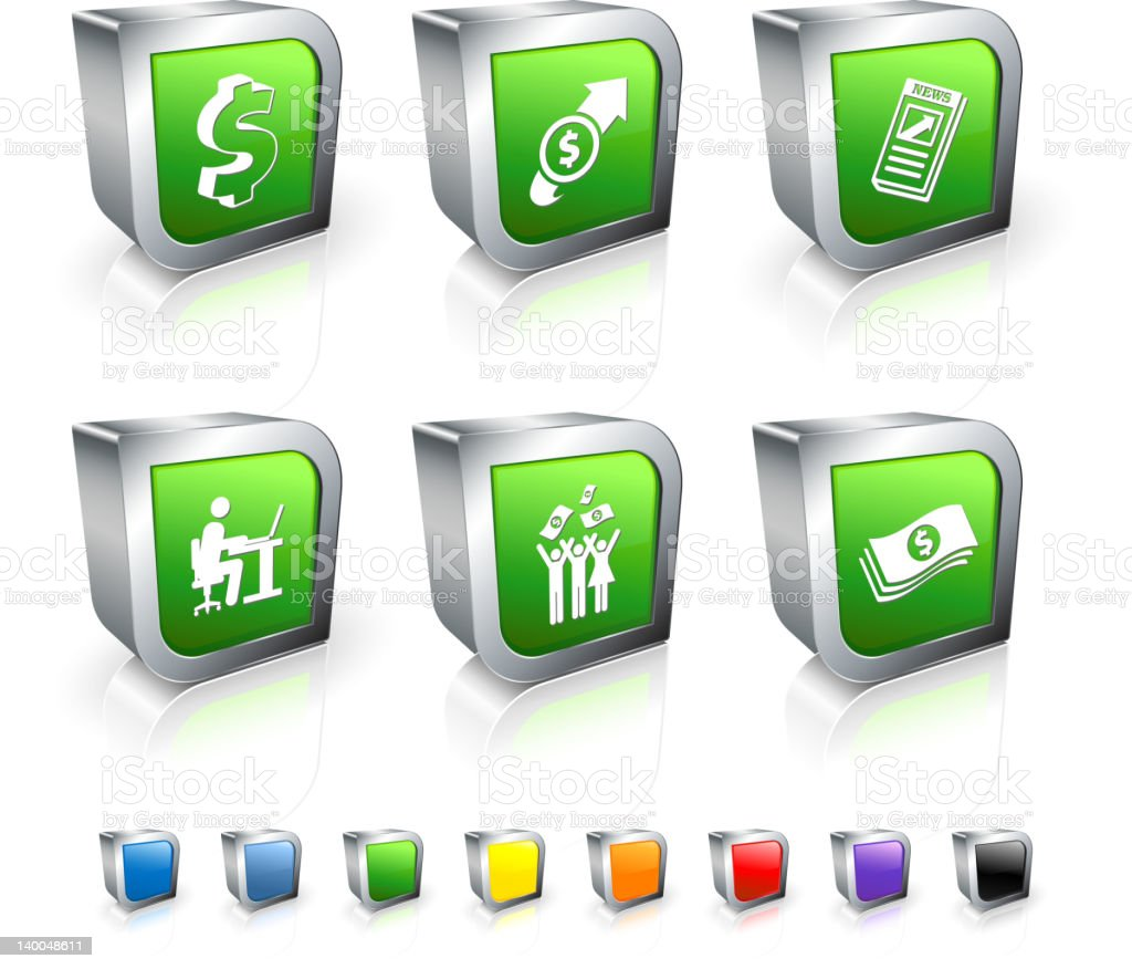currency trading profits royalty free vector icon set royalty-free stock vector art