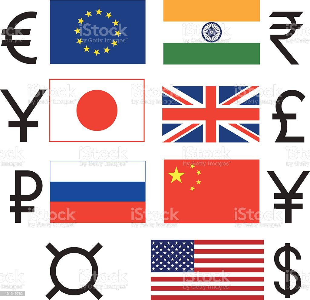 Currency vector art illustration