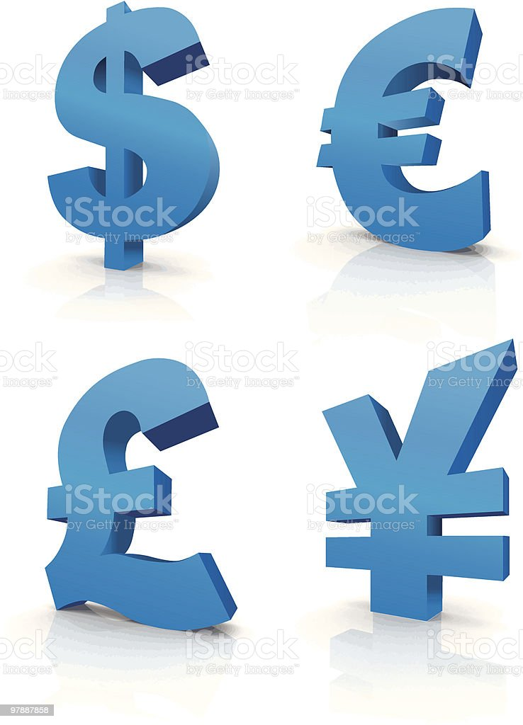 Currency vector symbols royalty-free stock vector art