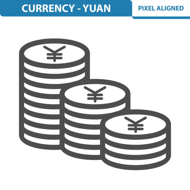 Currency - Yuan Icon Professional, pixel perfect icon, EPS 10 format. taiwanese currency stock illustrations