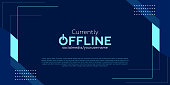 istock Currently offline twitch banner background vector template 1286156255