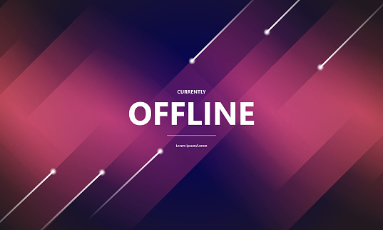 currently Online Offline background.stock illustration