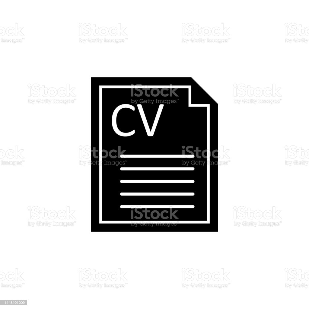 Curriculum Vitae Cv Icon Signs And Symbols Can Be Used For