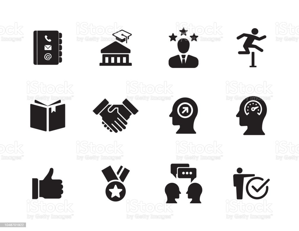 Curriculum Vitae Icon Set Stock Vector Art More Images Of Business