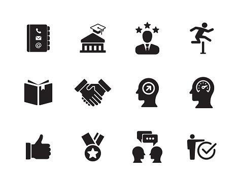 Curriculum Vitae Icon Set