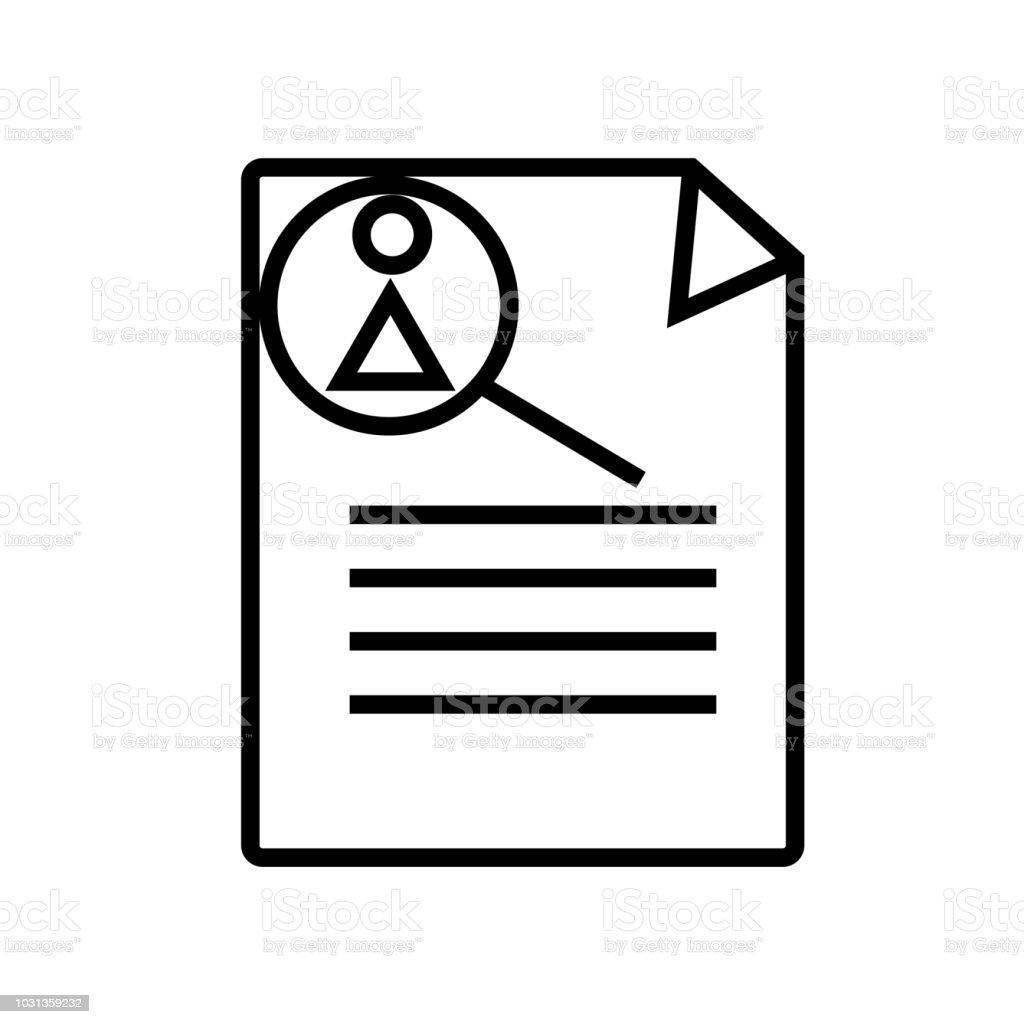 Curriculum Vitae Icon Vector Isolated On White Background Curriculum