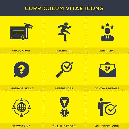 Curriculum Vitae Icons Set