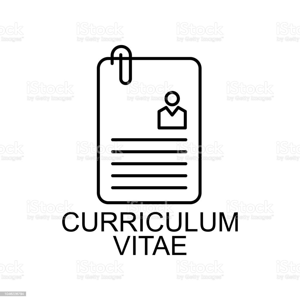 Curriculum Vitae Line Icon Element Of Human Resources Signs With