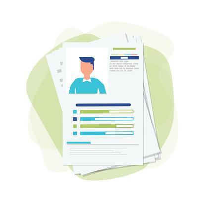 Curriculum vitae papers concept