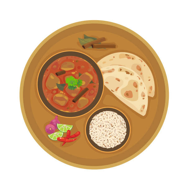 curry - indian food stock illustrations, clip art, cartoons, & icons