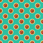 Currywurst Germany Seamless Pattern