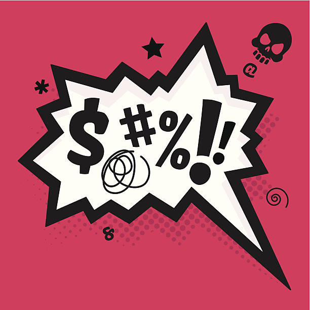stockillustraties, clipart, cartoons en iconen met curse - swearing