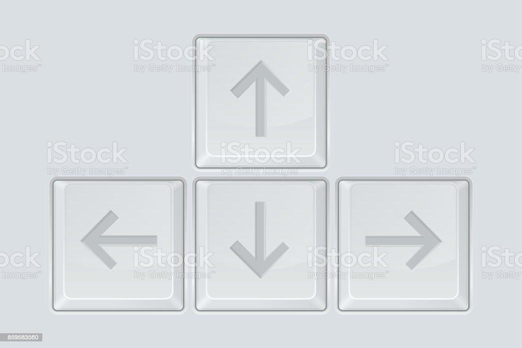 Cursor Arrow Keys Keyboard Elements Stock Vector Art More Images