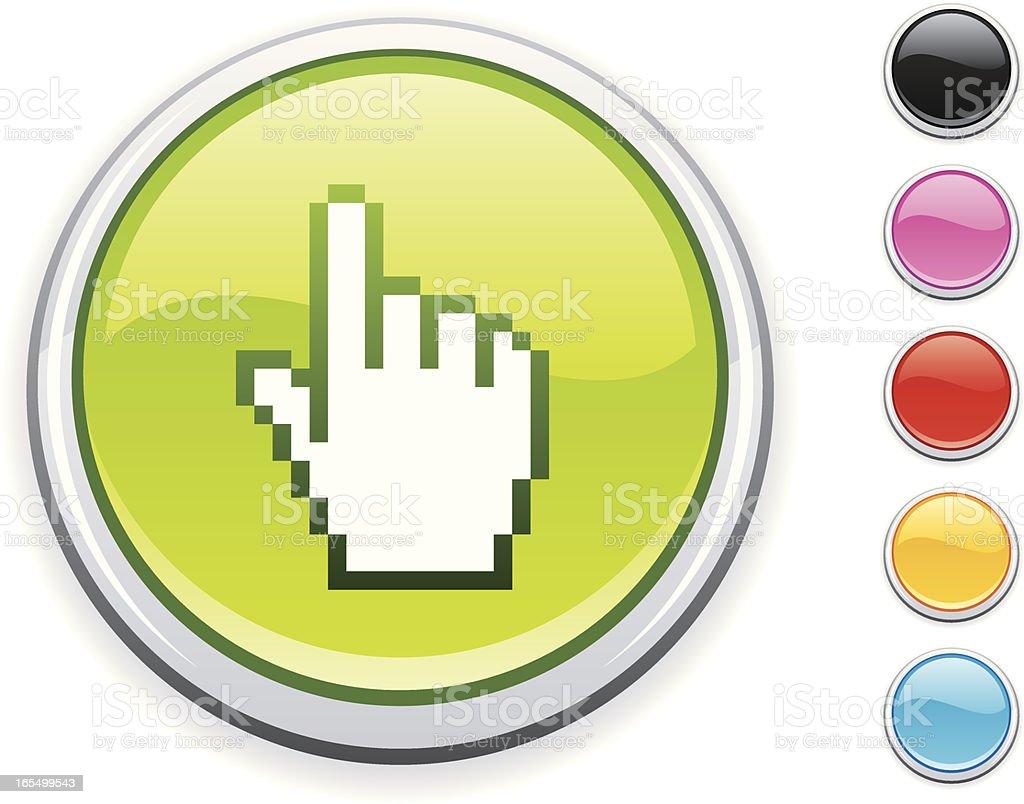Cursor hand icon royalty-free stock vector art