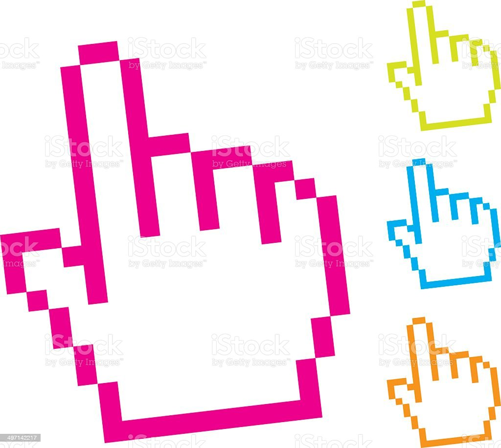 cursor hand royalty-free stock vector art